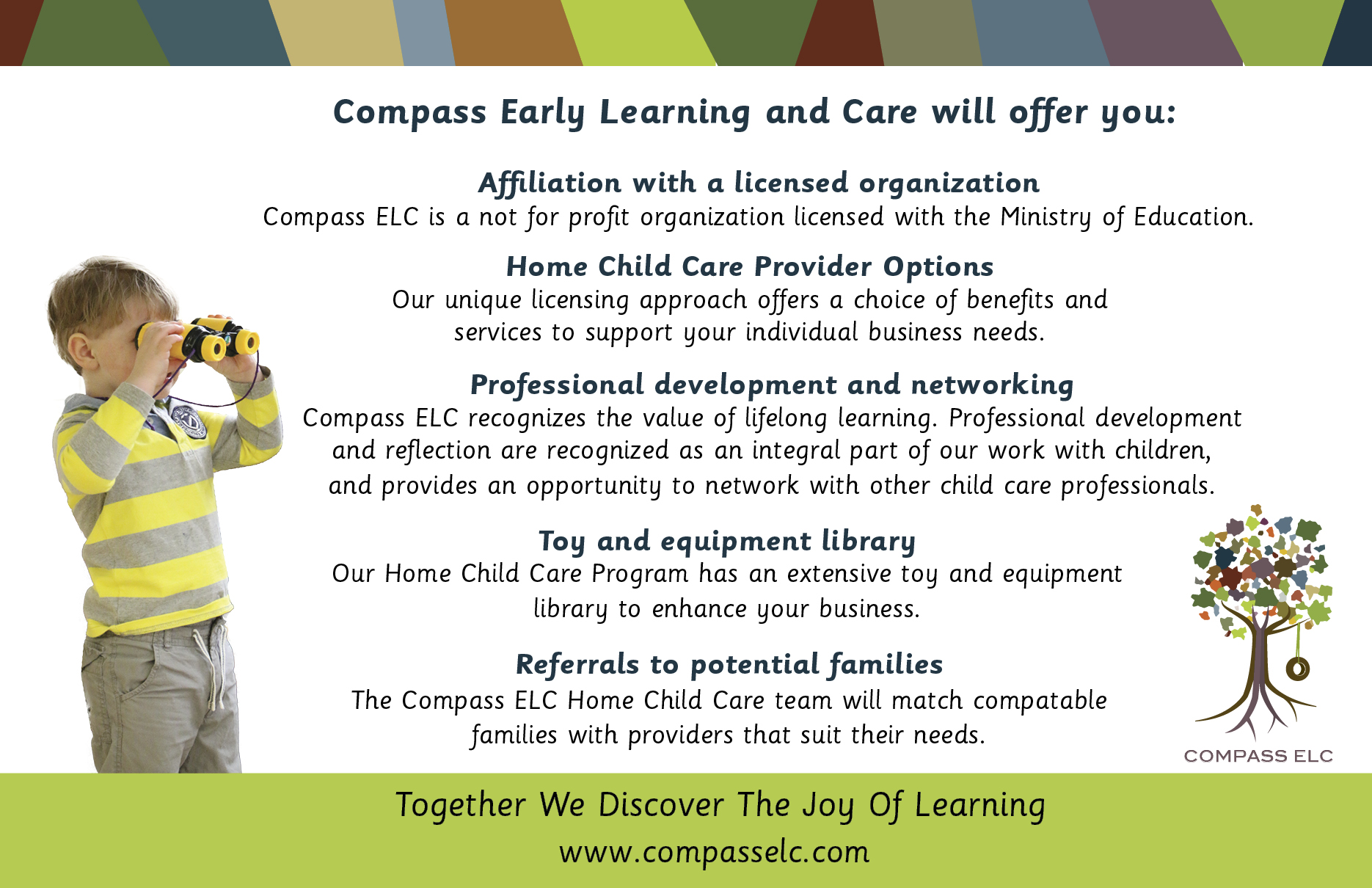 becoming a home child care provider compass recruitment flyer ptbo home child care lisa2